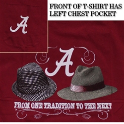Alabama Crimson Tide T-Shirts - From One Tradition To The Next - With Pocket