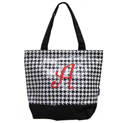 Alabama Crimson Tide Houndstooth Canvas Tote Bag