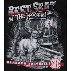 Alabama Crimson Tide T-Shirts - Best Seat In The House - Black