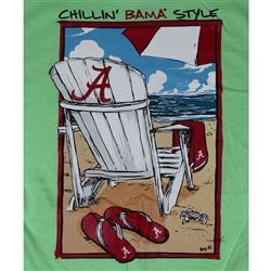 Alabama Crimson Tide Football T-Shirts - Chillin Bama Style On The Beach