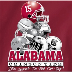 Alabama Crimson Tide Football T-Shirts - Good To Be On Top - SEC Helmets