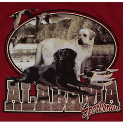 Alabama Crimson Tide Football T-Shirts - Alabama Sportsman - Lab Dogs & Ducks