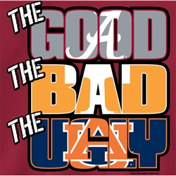 Alabama Crimson Tide Football T-Shirts - The Good The Bad The Ugly