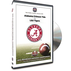 Alabama Crimson Tide 2012 BCS National Championship Game DVD