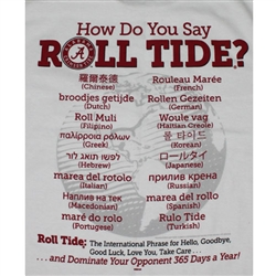Alabama Crimson Tide T-Shirts - Spoken Around The World